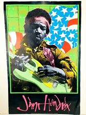 Jimi Hendrix Blacklight Poster Numbered Edition Lithograph 1995 Kozig/Cushway