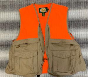 Cabelas Men's Hunting Vest Orange / Beige Size Large