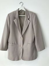 Ladies Beige Size 12 Suit Jacket <AA30