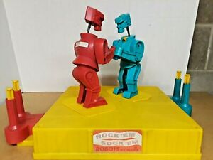 VINTAGE 1966 MARX ROCK EM SOCK EM ROBOTS