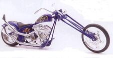 Custom Chopper blau, NewRay Motorrad Modell 1:12