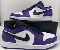 Nike Air Jordan 1 Retro Low Court Purple White 553558-500 Mens Size