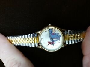 SII by Seiko Vintage 1990's Disney ANIMATED EEYORE WATCH with two- tone band