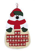 Christmas Fabric Snowman Advent Calendar  NEW  11188