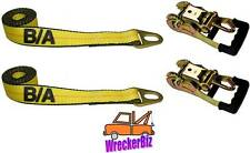 (2) WHEEL LIFT STRAPS & (2) GRADUAL RELEASE RATCHETS CHEVRON WRECKER, TOW TRUCK