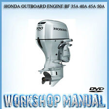 HONDA OUTBOARD ENGINE BF 35A 40A 45A 50A SERIES WORKSHOP SERVICE MANUAL IN DISC