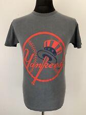 Nueva York NY Yankees logotipo Camiseta Gris Retro Vintage Deportes béisbol Pequeño