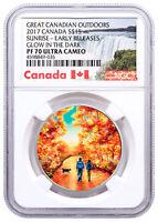 2017 Canada Outdoors Walk Sunrise 3/4oz Silver Glow Dark NGC PF70 UC ER SKU49422