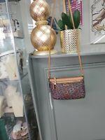 Calvin Klein Brown/Tan Logo Genuine Pebbled Leather Crossbody Purse/Handbag