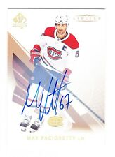 2017-18 SP Authentic Max Pacioretty Limited Autograph SP Group B – 1:2,059 Packs