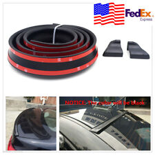 4.9ft 1.5m Universal Black Car Rear Roof Trunk Spoiler Wing Lip Trim Sticker USA