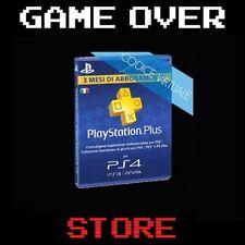 Abbonamento annuale PLAYSTATION PLUS 12 Mesi PSN Card Sottoscrizione PS4 PS3