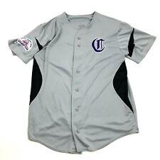 Pony League Baseball Jersey Size Medium M Gray Purple Dry Fit Augusta Sportswear