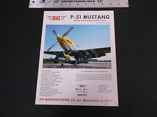 VINTAGE SIG P-51 SPORT SCALE & SPORT FLYER R/C PLANE AD SHEET 1-SIDED *VG-COND*