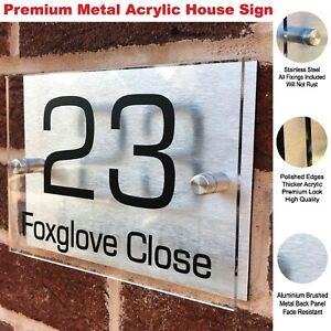 HOUSE PLAQUES / DOOR SIGNS / DOOR SIGN / NUMBER / PERSONALISED ACRYLIC PLAQUE