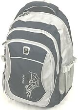 Aoking Nylon Navy Blue/Grey/Black School Travel Backpack Laptop Bag - spiderweb
