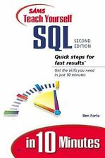 Sams Teach Yourself SQL in 10 Minutes by Ben Forta (2001, Paperback)