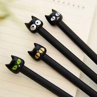 4pcs Black Cat Gel Pen Kawaii Stationery Cute Gift School Supplies 0.5mm