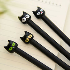 4pcs Black Cat Gel Pen Kawaii Stationery Creative Gift School Supplies 0.5mm MW
