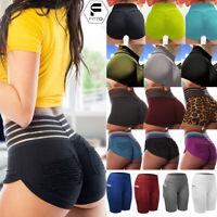 Womens High Waist Yoga Shorts Hip Push Up Booty Sports Hot Pants Gym Fitness A17