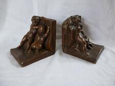 Jugendstil KBW Bronze works Buchstützen Putti Bookends Kathodian Bronze works