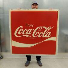 Vintage Coca-Cola Large 49x47 Plastic Embossed Light Up Sign Portion