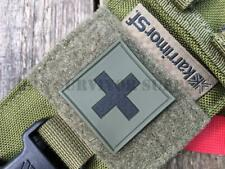 MEDIC FIRST AID KIT PVC PATCH 35mm - Green OD Trauma Pouch Morale Tactical Badge