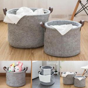 Large Felt Storage Basket Closet Toy Hamper Laundry Bag Shelf Box Organizer