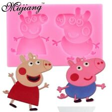 Peppa Pig Silicone mould mold Sugarcraft cupcake topper