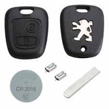 Peugeot DIY Repair Kit 2 Button Remote Car Key Fob Case with Blade 107 207 307