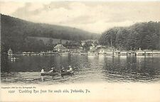 Vintage Postcard Pottsville PA Schuylkill County couples in canoes Rotograph