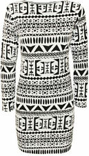 Viscose Stretch, Bodycon Regular Geometric Dresses for Women