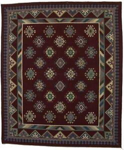 Kilim Needlepoint Hand-Hooked 8X10 Chinese Oriental Rug Home Decor Carpet