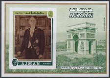 Ajman 1971 ** Bl.321 B Politiker politician Charles de Gaulle