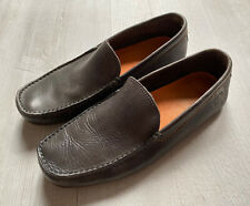Mens Grey Diesel Leather Loafers Size UK 7
