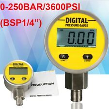 Digital Hydraulic Pressure Gauge 0-250BAR/25Mpa/3600PSI (G/BSP1/4) -Base Entry