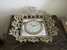 Vintage Picture Metal Frame Electric Clock Movement By Sessions USA Not Working