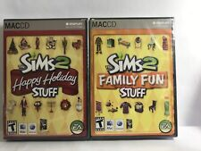 Lot Of 2 The Sims 2 Family Fun And Happy Holiday Stuff MAC CD Factory Sealed