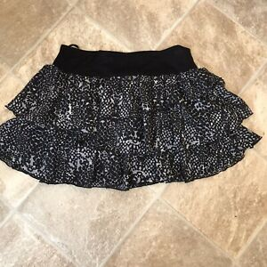 Ra-ra Skirt Size 10 Black/Grey Animal pattern Length 14''
