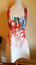 NWT KAREN MILLEN BOTANICAL PRINT DRESS DY042 Multi Color Size US 10 UK 14 EU 42