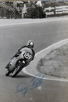 27506 Moto Rennen Foto M.Autografo Thomas Robb Irlanda 1962 Honda Bici Photo