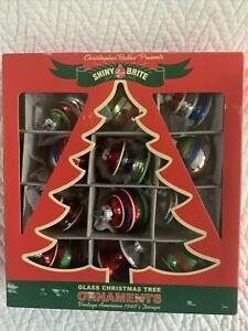 Christopher Radko 2009 Shiny Brite/Box Of 12 Mini Ornaments