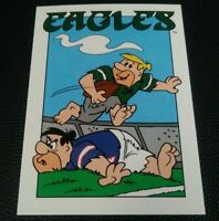 1993 CARDZ Team NFL The Flintstones Philadelphia Eagles Schedule football card