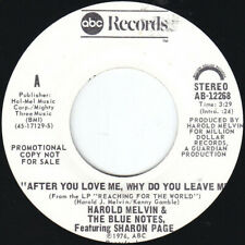 HAROLD MELVIN F/ SHARON PAGE, After You Love Me PROMO USA Unplayed Old Stock 45