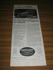 1928 Print Ad Marchant Complete Figuring Machine Calculating Oakland,CA