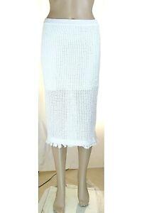 Gonna Midi Longuette Donna PINKO Made in Italy LU209 Bianco Tg M