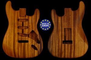 Strato 60 s style electric guitar body 1 piece monkeypod unique