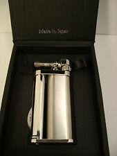 Tsubota Pearl EDDIE Satin Silver model Pipe Lighter w/ Tools Seki Japan Old Boy☦