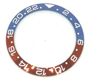 HQ CERAMIC BLUE RED BEZEL INLAY FOR GMT MASTER II 116710