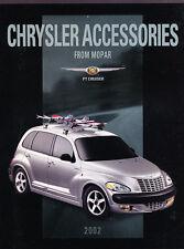 2002 Chrysler PT Cruiser Mopar Accessories Original Car Brochure Catalog